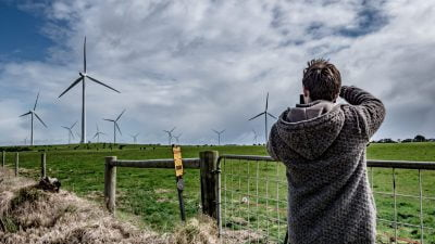 Windmills and our photographer in action capturing all your digital content marketing needs for any business