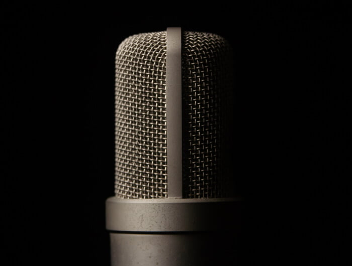 """Microphone """"on"""" for Poster Boy Media's podcast production services"""